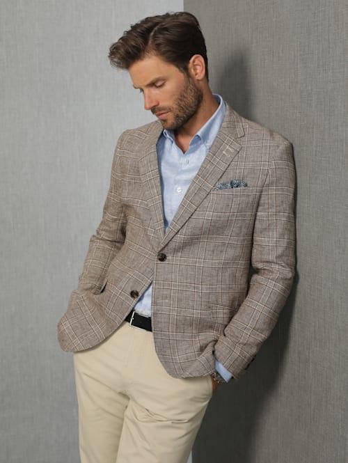 Veste de costume en lin mélangé Style raffiné