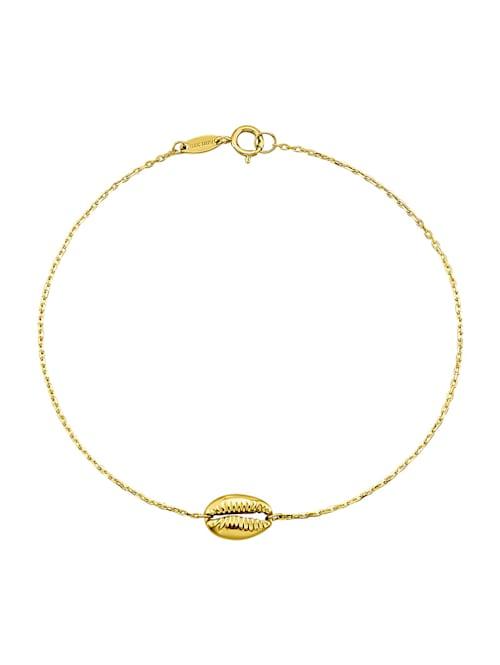 Muschel-Armband in Gelbgold 375 in Gelbgold 375