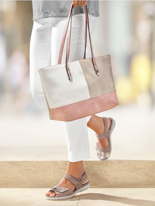 Shopper in een chique kleurencombinatie