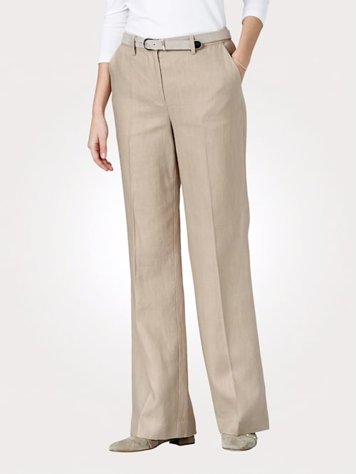 Pantalon en lin mélangé