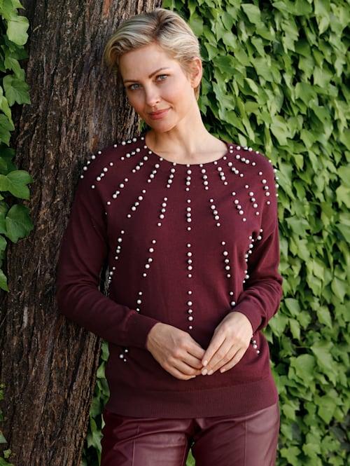 Pullover mit Perlennietenapplikation