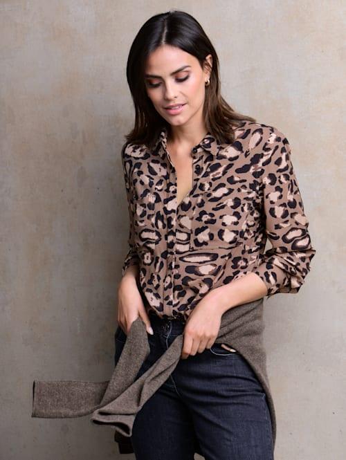 Bluse im Animal-Dessin exklusiv bei Alba Moda