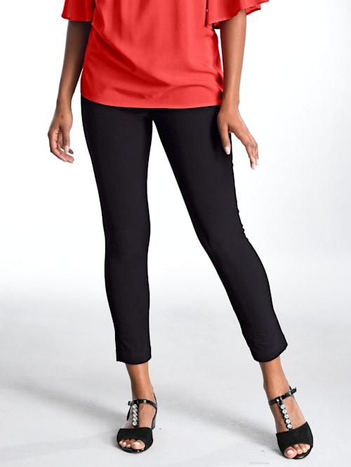 Kalhoty s dekorativními zipy na pásovce