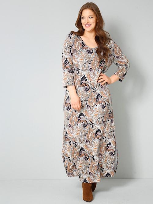 Jersey-Kleid mit Paisley Print allover