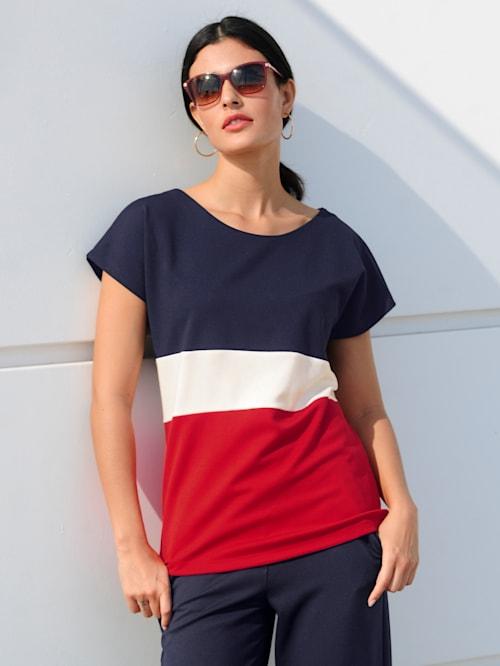 T-shirt à motif color block