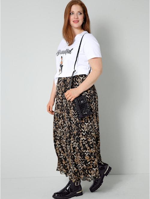 Shirt mit Printmotiv und Dekosteinchen
