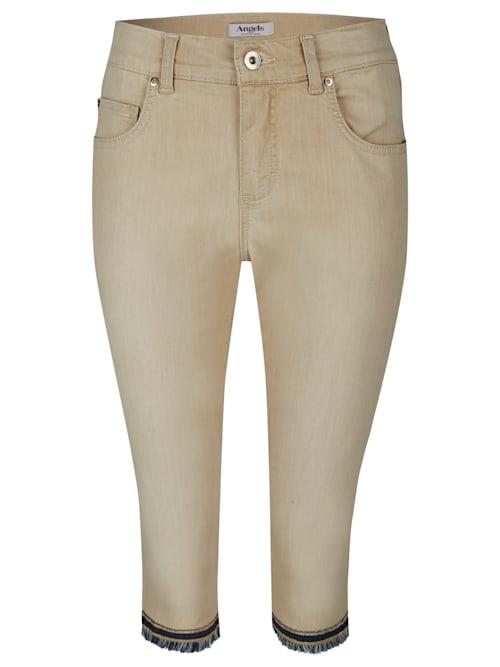 Jeans 'Capri-Fringe' mit gefranstem Beinsaum