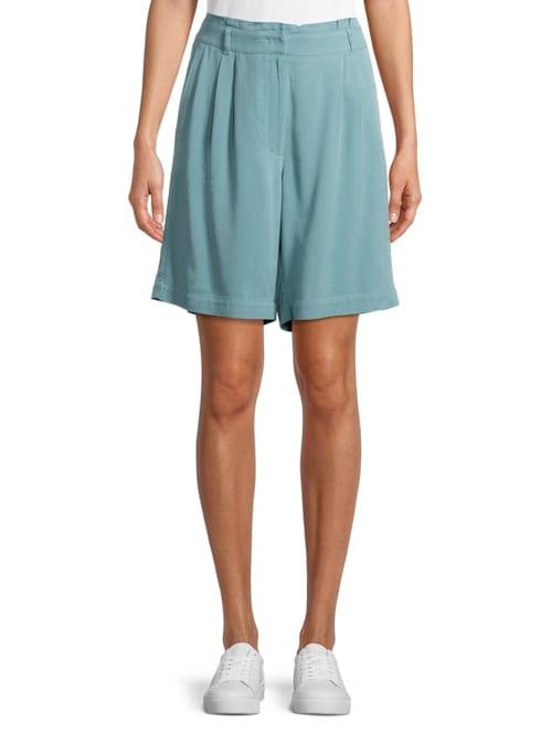 Shorts mit Bundfalten Material