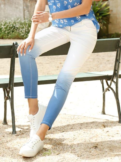 Jeans met kleurverloop
