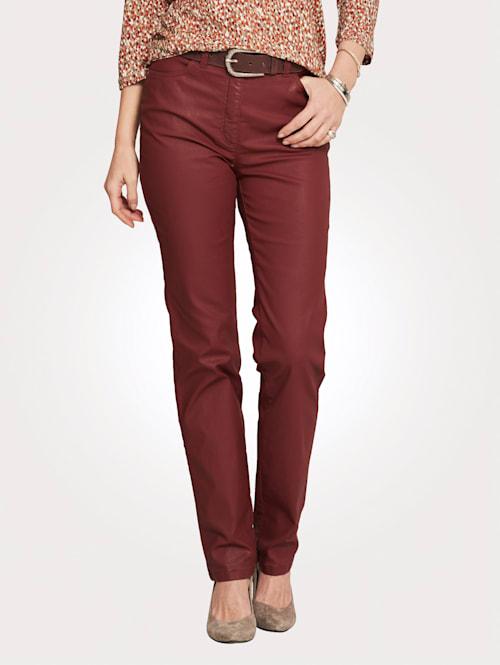 5-kapsové kalhoty v koženém vzhledu