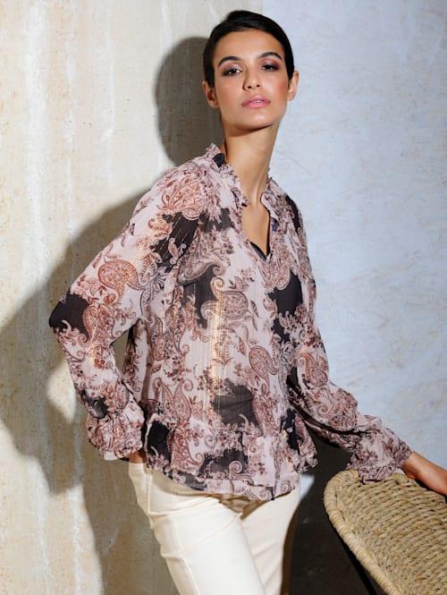 Bluse im exklusiven Druck von Alba Moda