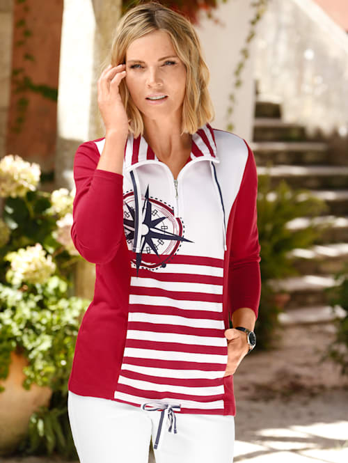 Sweatshirt i maritim stil
