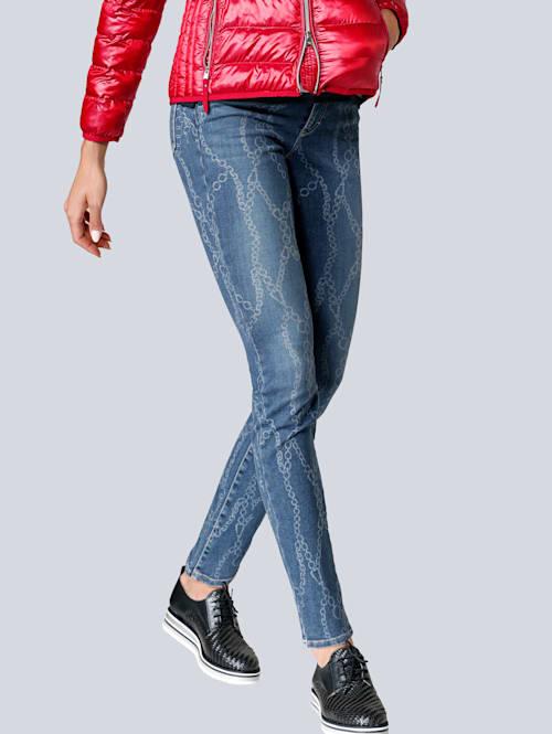 Jeans im angesagten Kettendruck allover