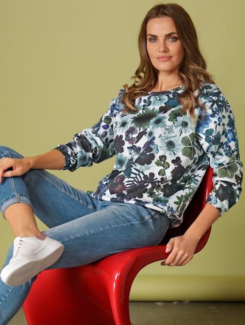 Sweatshirt allover im floralen Motiv
