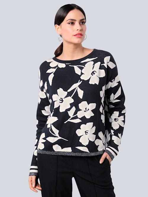 Pullover im exklusivem Strickdessin von Alba Moda