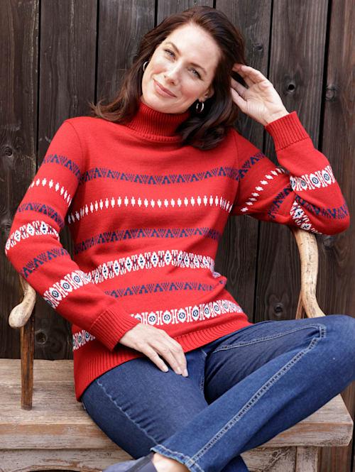 Pullover mit grafischem Jaquardstrick