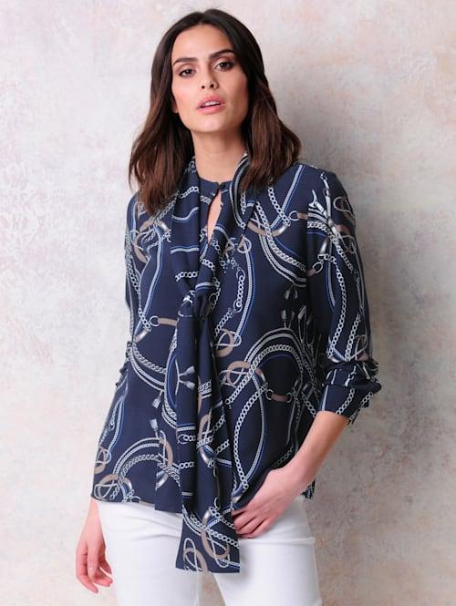 Bluse in Alba Moda exklusivem Print