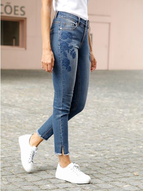 Jeans Laura Extra Slim mit floraler Stickerei