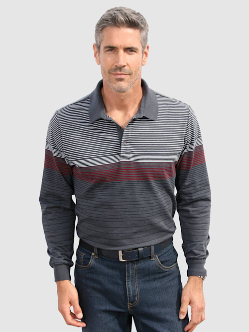 Poloshirt mit garngefärbten Streifenmuster