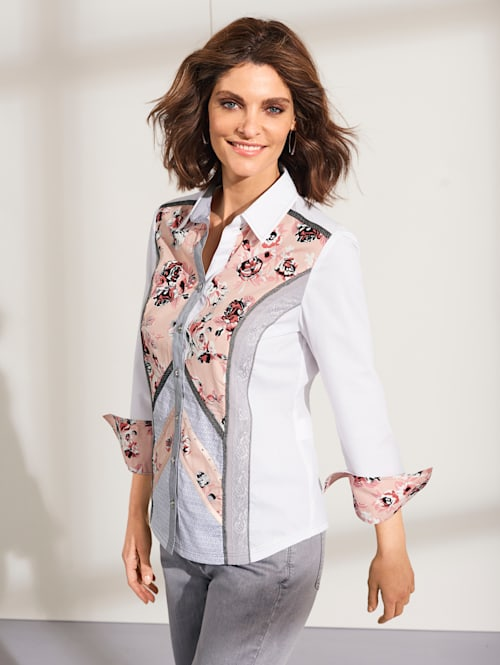 Blouse in patchworklook