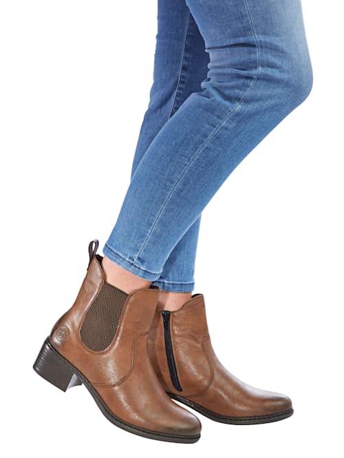 Stiefelette in leichtem Used-Look