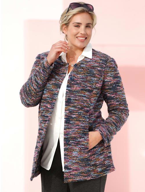 Bouclé blazer in een mooie kleurenmix