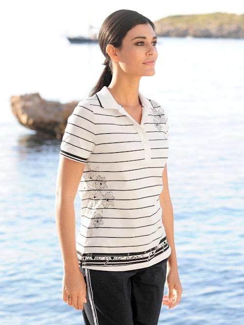 Poloshirt met exclusieve print van ALBA MODA