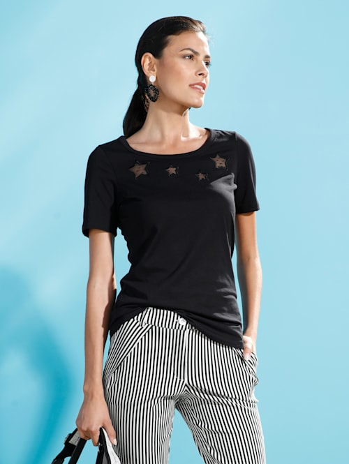 T-shirt avec découpes mode