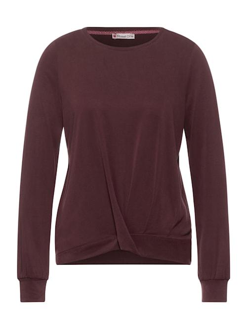 Jersey-Shirt mit Silk Look