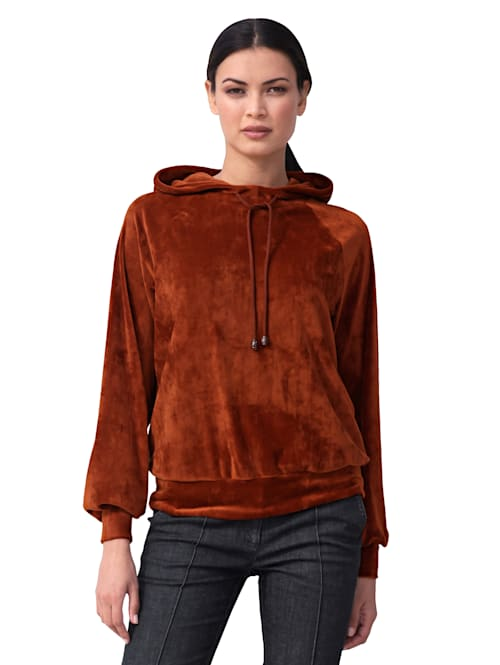 Sweatshirt van fluweel