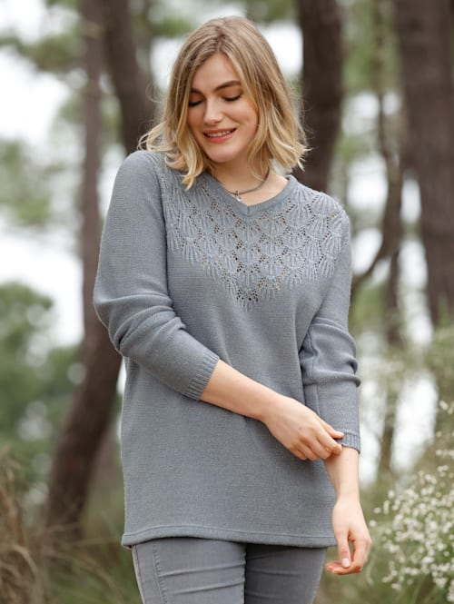 Pullover mit Ajoursmuster