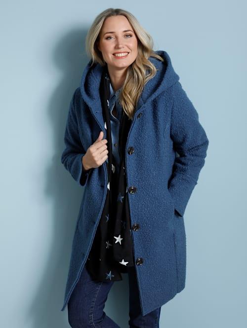 Manteau court d'aspect laine douillette