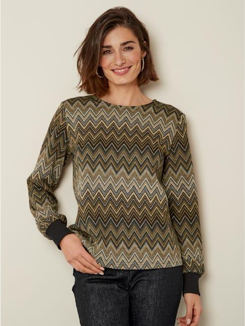 Pullover mit dekorativem Glanzgarn
