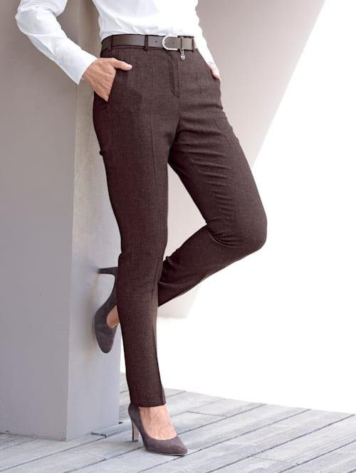 Nohavice vo flanelovom vzhľade