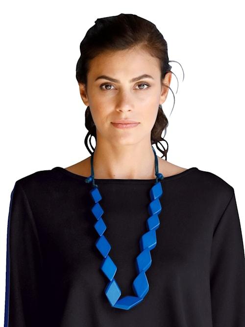 Halsband med trä