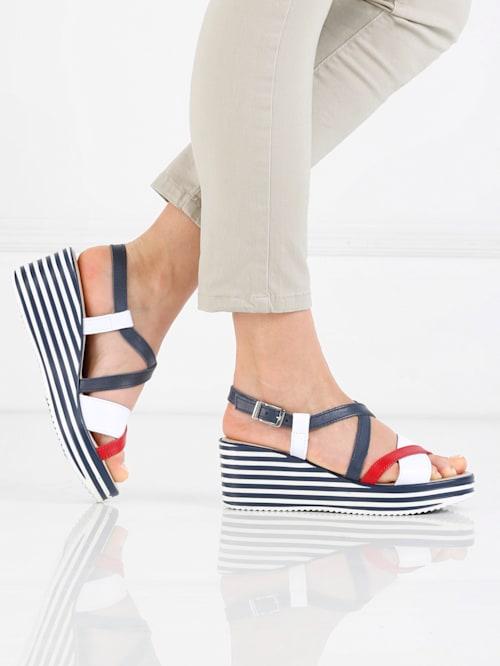 Sandaletter i maritim stil