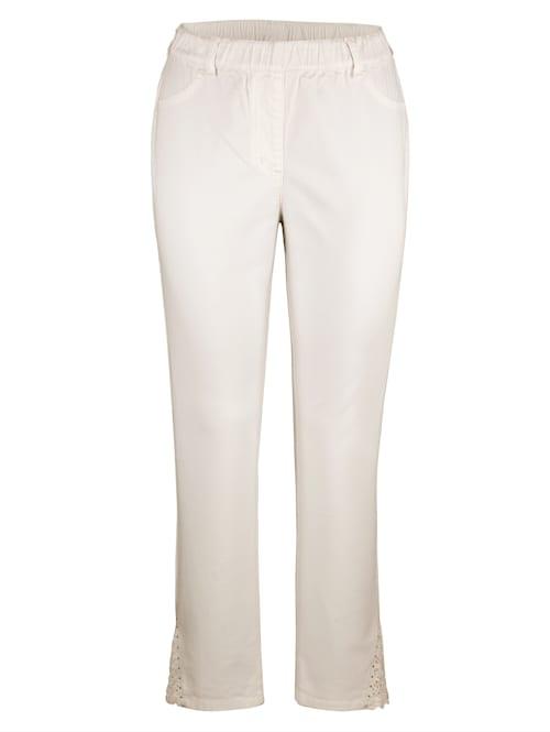 Pantalon avec dentelle au bas de jambes