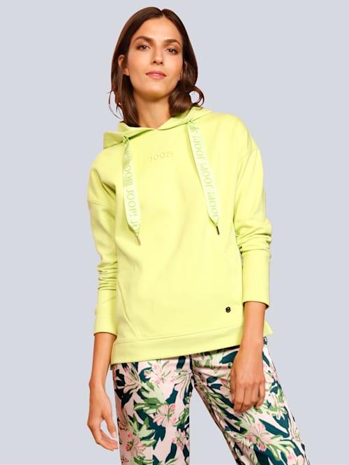 Sweatshirt in modischer Farbe