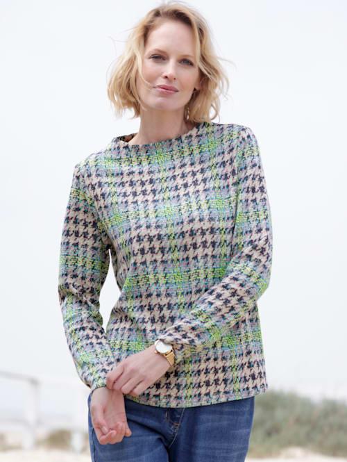 Sweatshirt in elastischer Jacquard-Qualität