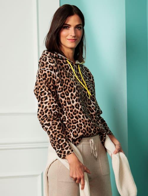 Pullover mit modischem Leodruck
