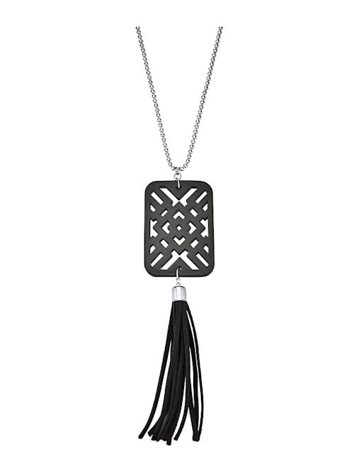 Halskette mit Kunstharzanhänger