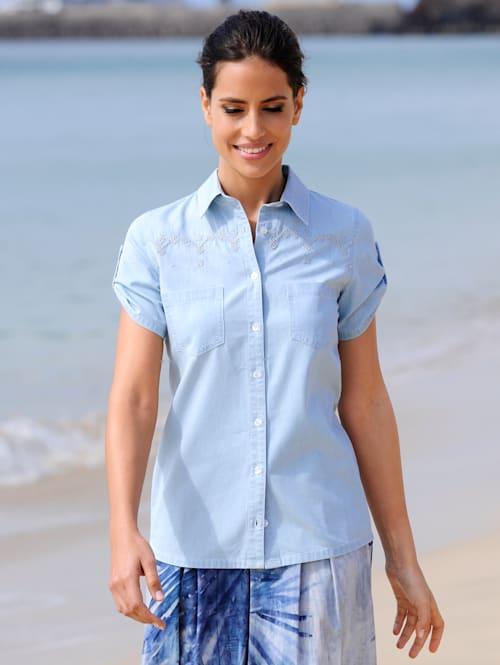 Strandbluse aus leichter Jeansware