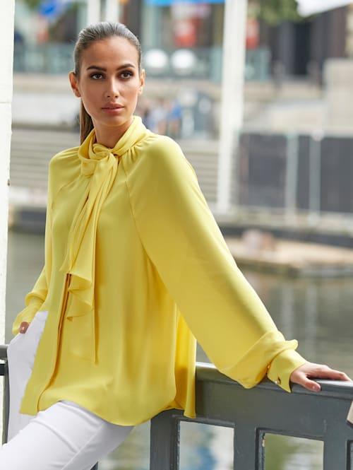 Bluse mit großer Schluppe