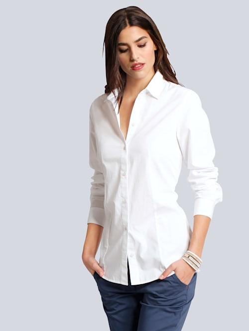 Bluse mit Hemdblusenkragen