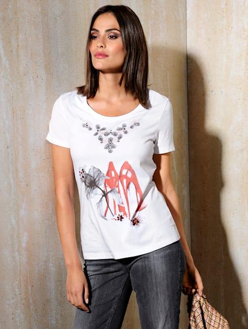 Shirt mit Strass-Steinchen