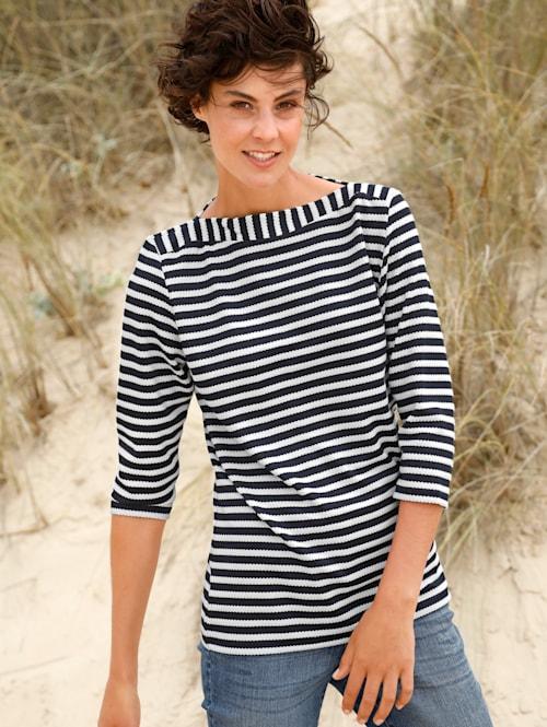 Sweatshirt mit strukturiertem Streifen