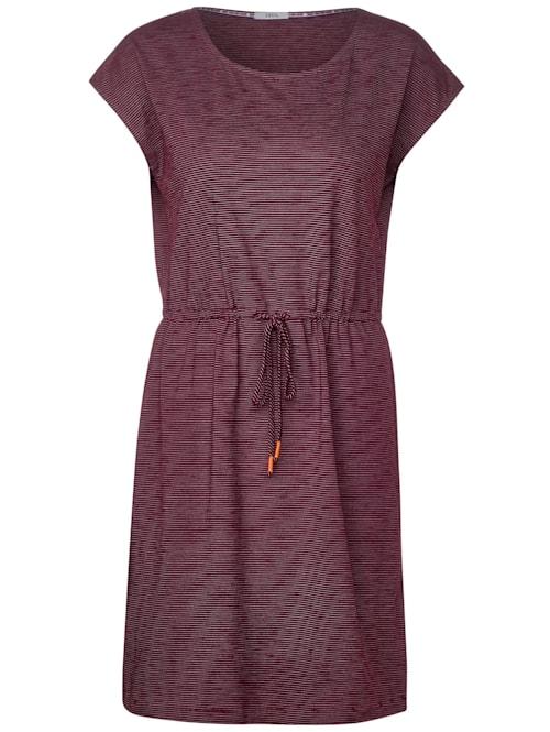 Jerseykleid mit Streifen