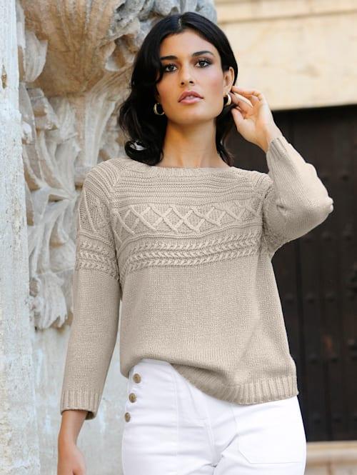 Pullover aus feinem Bändchengarn