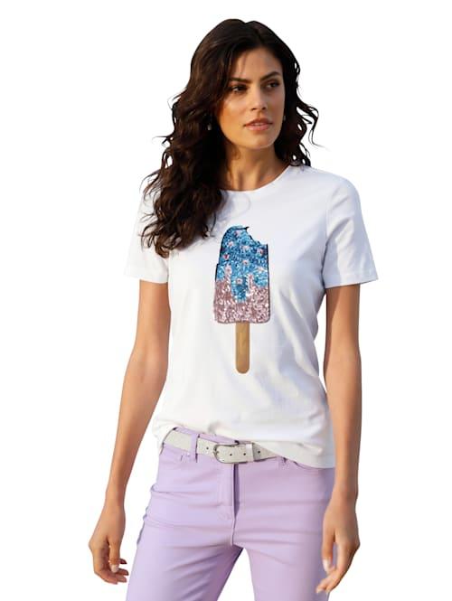 Shirt met pailletten