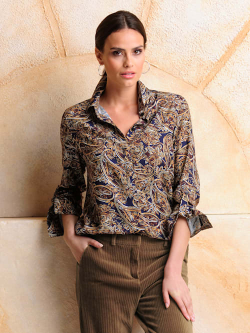 Bluse allover im Paisleymuster